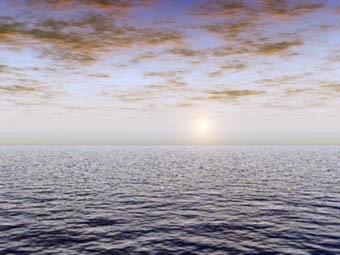 Horizont als eine Trennungslinie zwischen Erde und Himmel