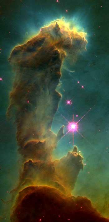 Der Adler Nebel, Geburtsstätte neuer Sonnen und Planeten (Foto NASA und Hubble Heritage Team)